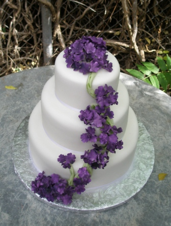 hydrangeas Sugar flowers sedona Wedding cakes com